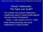 virtual trademarks the fight over slart