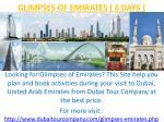 glimpses of emirates 6 days