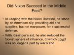 did nixon succeed in the middle east