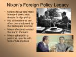 nixon s foreign policy legacy