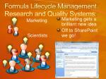 formula lifecycle management research and quality systems14