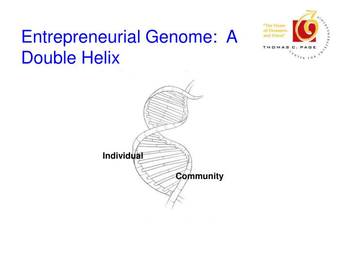 Entrepreneurial genome a double helix