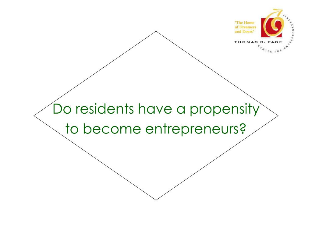 Do residents have a propensity
