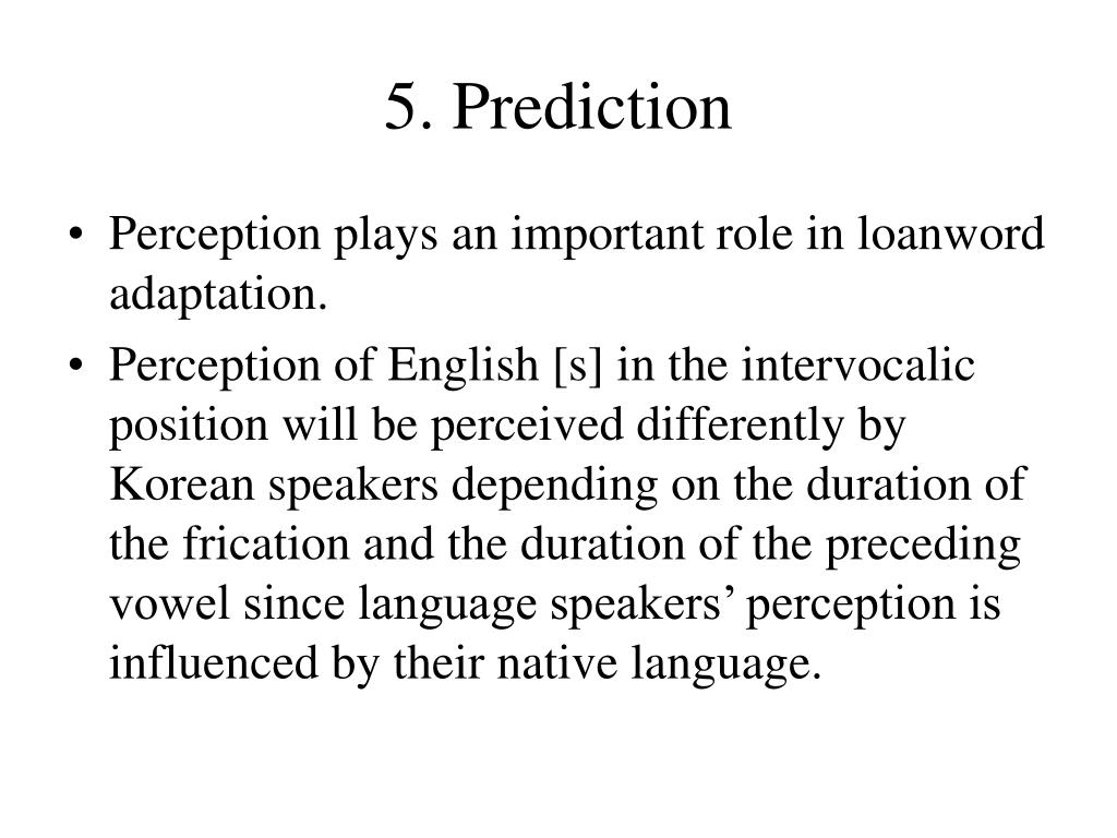 5. Prediction