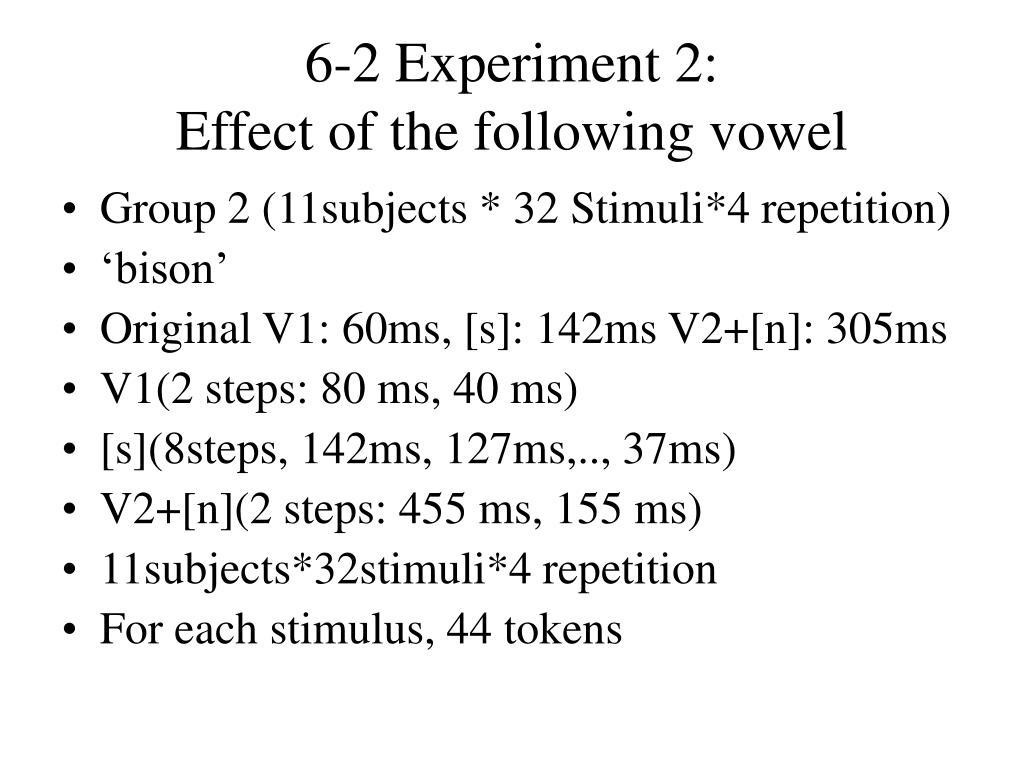 6-2 Experiment 2: