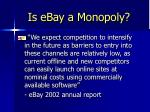 is ebay a monopoly14