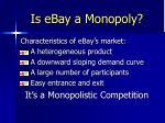 is ebay a monopoly16
