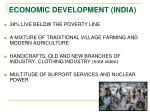 economic development india