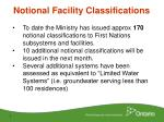 notional facility classifications