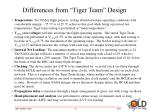 differences from tiger team design