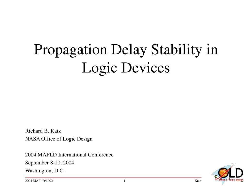 propagation delay stability in logic devices l.