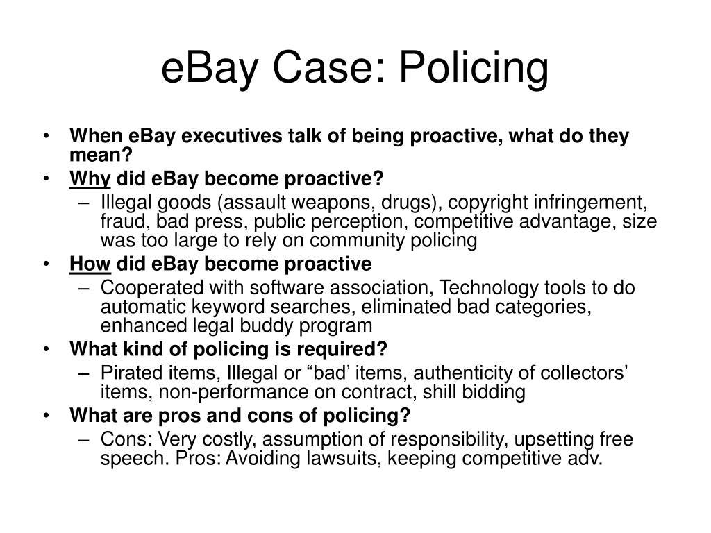 eBay Case: Policing