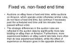 fixed vs non fixed end time