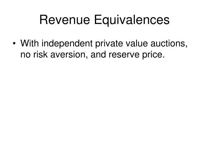 Revenue equivalences