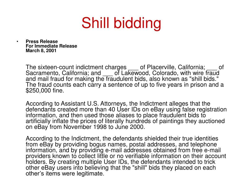 Shill bidding