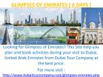 glimpses of emirates 6 days