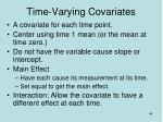 time varying covariates