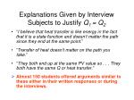 explanations given by interview subjects to justify q 1 q 269