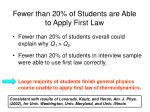 fewer than 20 of students are able to apply first law160