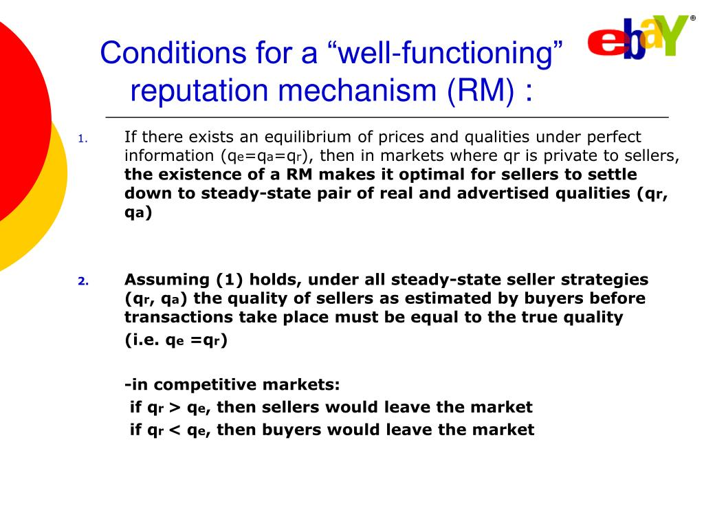 "Conditions for a ""well-functioning"""