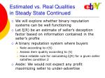 estimated vs real qualities in steady state continued