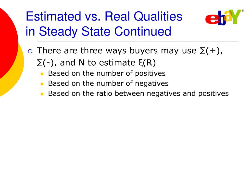 Estimated vs. Real Qualities