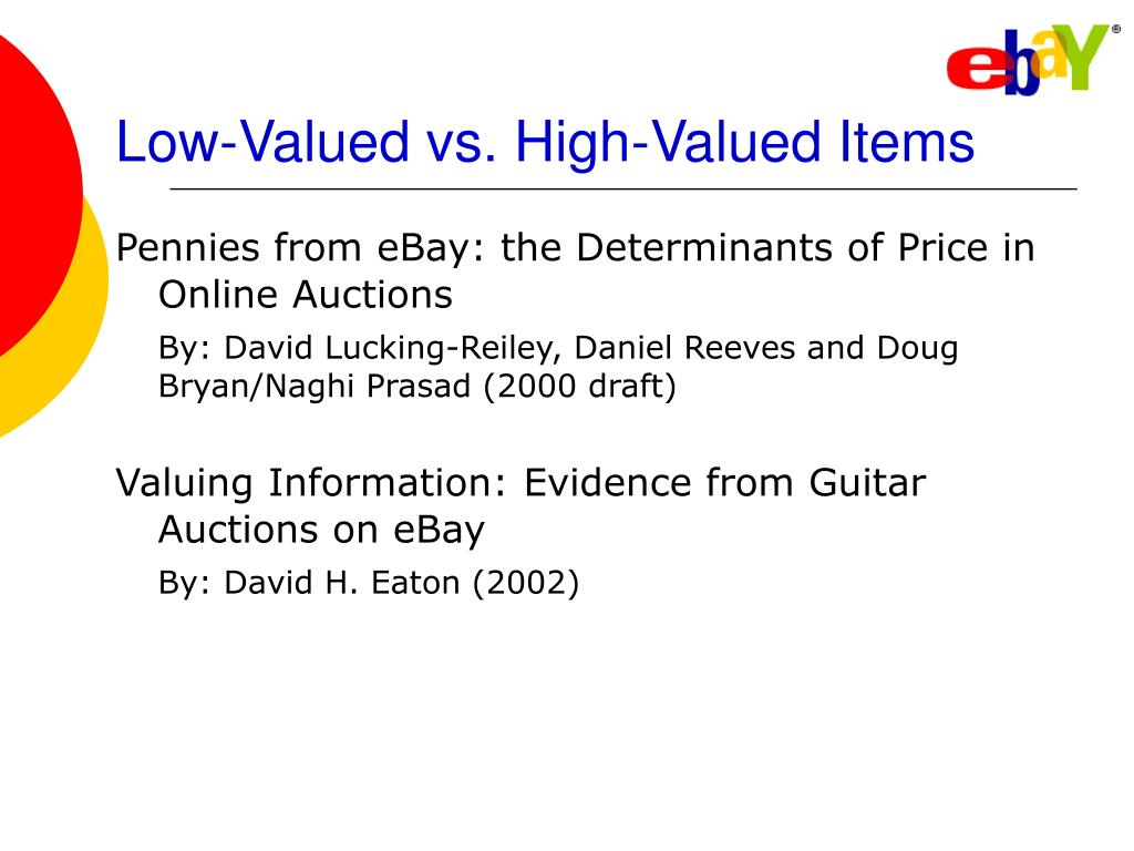 Low-Valued vs. High-Valued Items