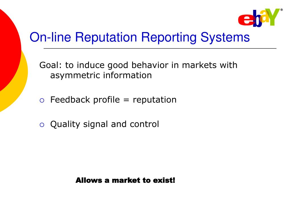 On-line Reputation Reporting Systems