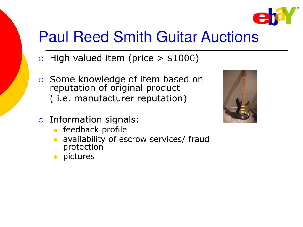 Paul Reed Smith Guitar Auctions