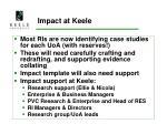 impact at keele