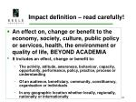 impact definition read carefully