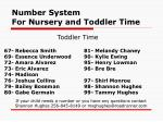 number system for nursery and toddler time21
