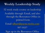 weekly leadership study