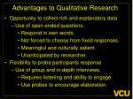 advantages to qualitative research