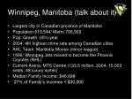 winnipeg manitoba talk about it