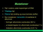 mutationer