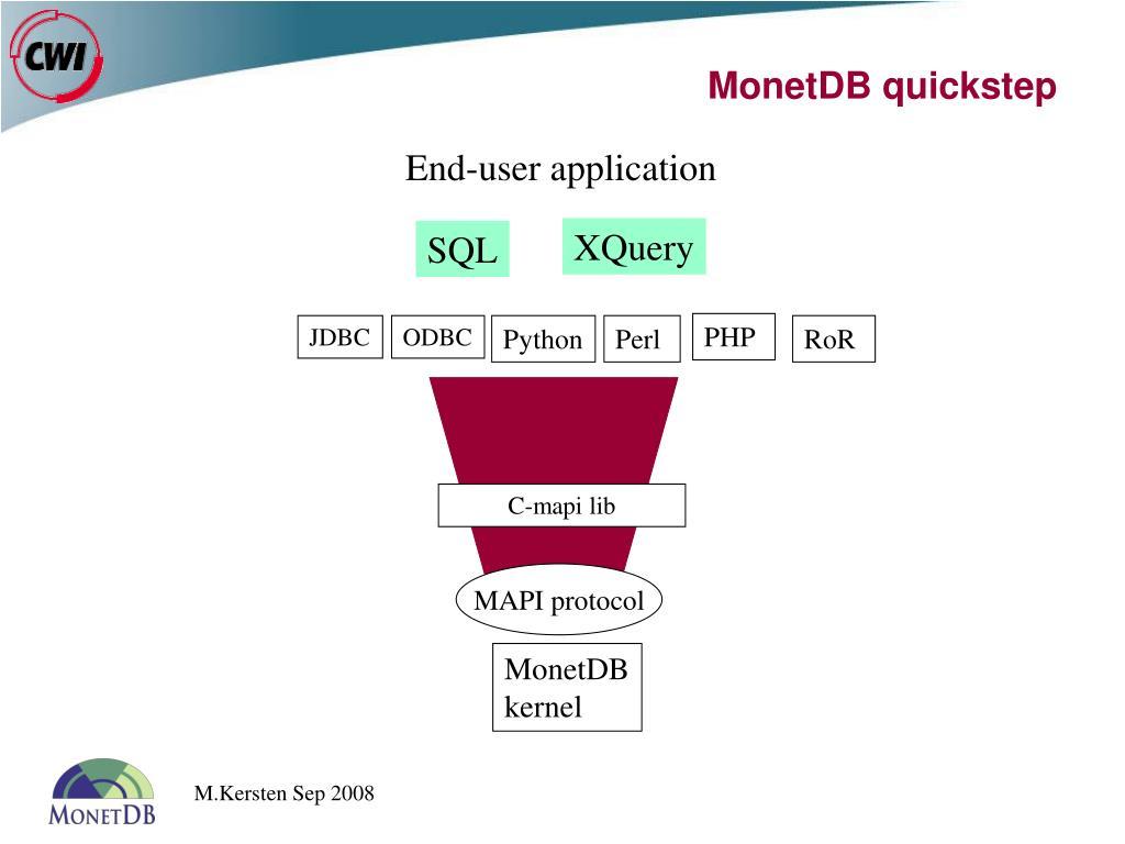 PPT - The MonetDB Architecture PowerPoint Presentation - ID:700088
