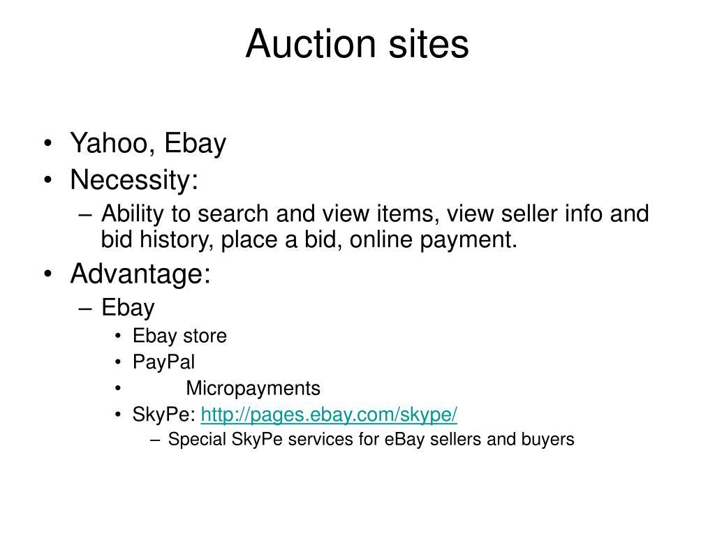 Auction sites