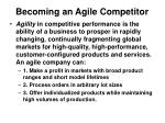 becoming an agile competitor