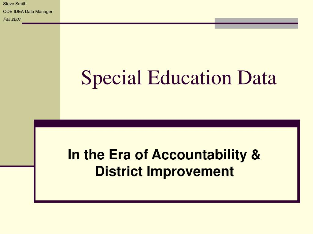 special education data l.