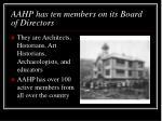 aahp has ten members on its board of directors
