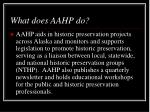 what does aahp do