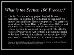 what is the section 106 process