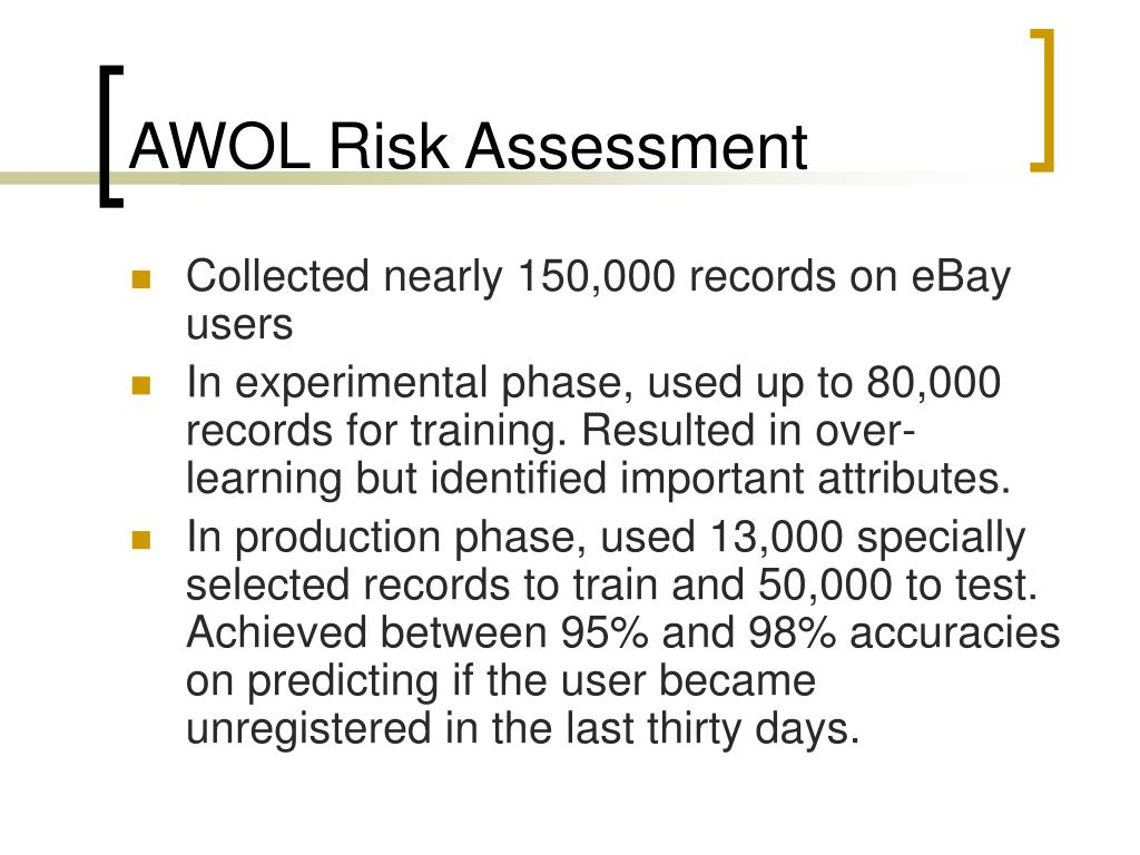 AWOL Risk Assessment