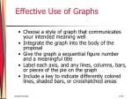 effective use of graphs