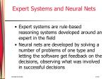 expert systems and neural nets