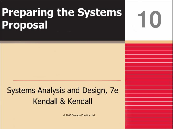 preparing the systems proposal n.