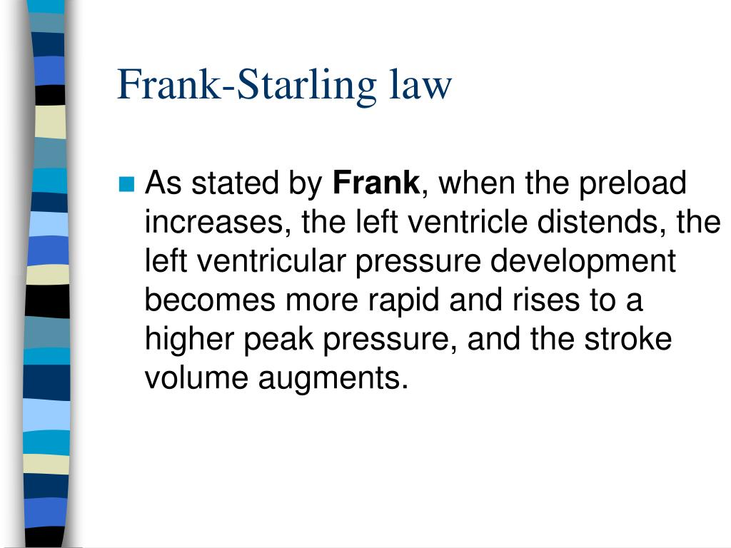 Frank-Starling law