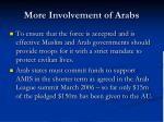 more involvement of arabs
