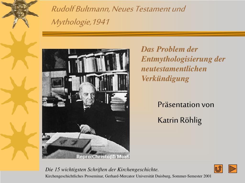 rudolf bultmann neues testament und mythologie 1941 l.